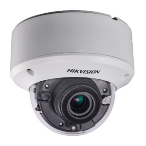 DS-2CE56F7T-VPIT3Z Hikvision HD-TVI 3MP Motorised Zoom VandalProof Dome Camera with 40M EXIR Night Vision (1 Yr)