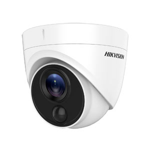 DS-2CE71D8T-PIRLO Hikvision HD-TVI 2MP Ultra Low Light Turret Camera with 20M EXIR, PIR with White Light Alarm