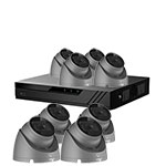 Eagle 1080P 8ch HDoC CCTV Kit and 8x IR Turret Camera with Built in Mic (Grey)