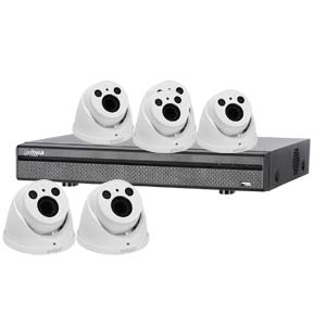 Dahua 4.0MP 120dB WDR 8 Ch System with 6 x HD CVI 60M IR Motorised Zoom Cameras (White)