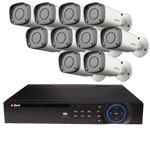 1080P Dahua 16 Channel System with 10 x HD CVI 30M IR Motorised Zoom Bullet Cameras