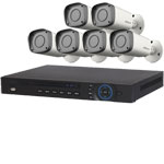 1080P Dahua 8 Channel System with 6 x HD CVI 30M IR Motorised Zoom Bullet Cameras