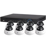 1080P Dahua 8 Channel System with 8 x HD CVI 30M IR Motorised Zoom Dome Cameras