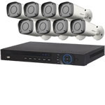 1080P Dahua 8 Channel System with 8 x HD CVI 30M IR Motorised Zoom Bullet Cameras