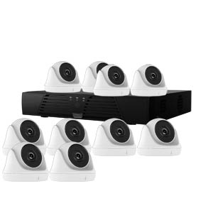 1080P HiWatch by Hikvision 16Ch Kit with 10 x HD TVI Turret Cameras