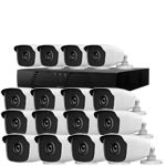 1080P HiWatch by Hikvision 16Ch Kit with 16 x HD TVI Bullet Cameras