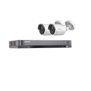 8MP Ultra Low Light Hikvision 4Ch Kit with 2x Wide Angle HD TVI 40M IR Bullet Cameras