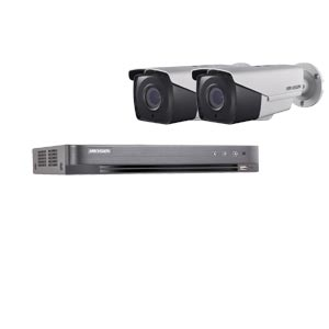 1080P Ultra Low Light Hikvision 4Ch System with 2 x HD TVI 40M IR Motorised Zoom Bullet Cameras