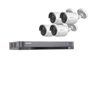8MP Ultra Low Light Hikvision 4Ch Kit with 4x Wide Angle HD TVI 40M IR Bullet Cameras