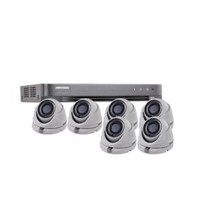 1080P Ultra Low Light Hikvision 8Ch Kit with 6 x Wide Angle HD TVI 20M IR Dome Cameras