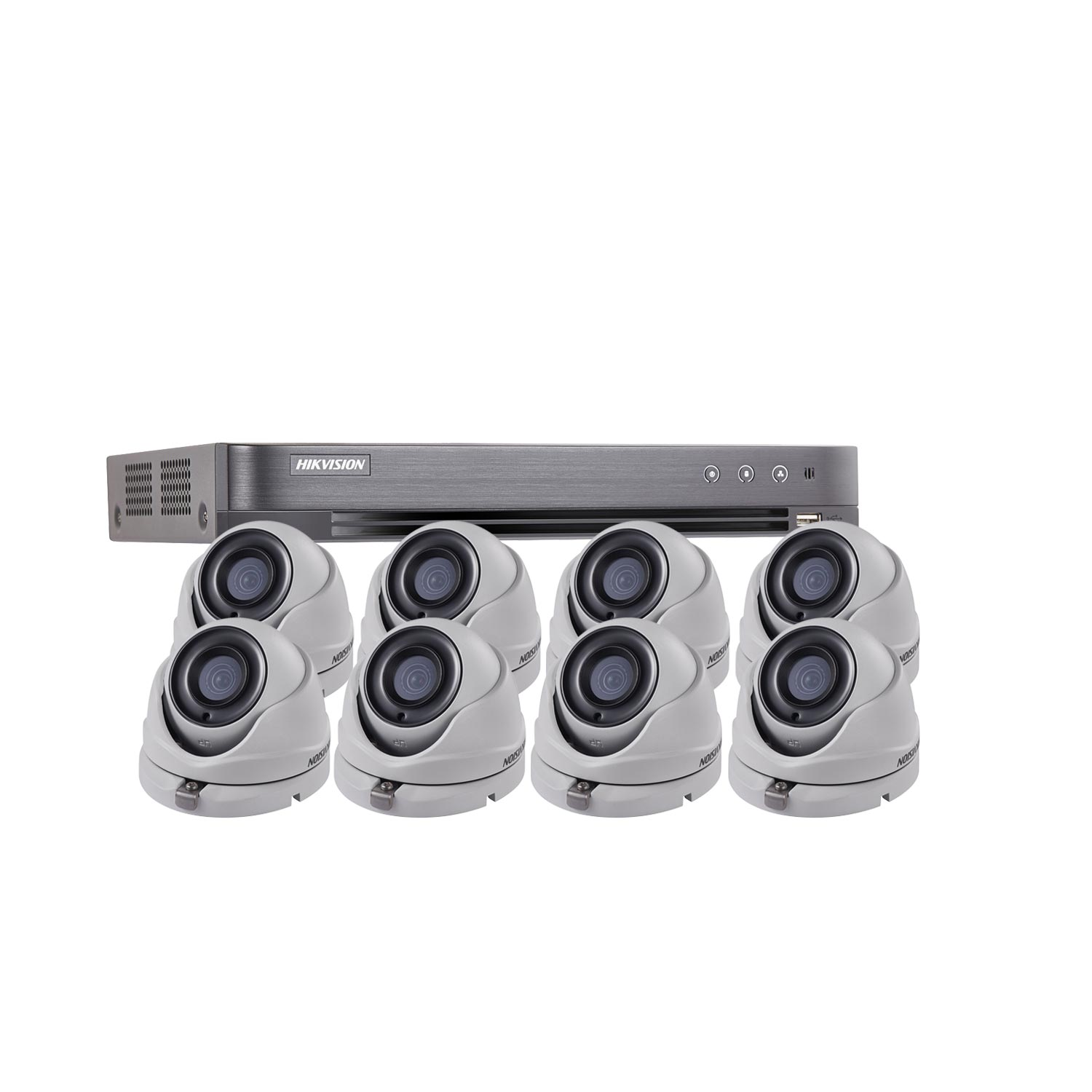 1080P Ultra Low Light Hikvision 8Ch Kit with 8 x Wide Angle