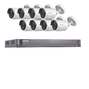 8MP Ultra Low Light Hikvision 8Ch Kit with 8x Wide Angle HD TVI 40M IR Bullet Cameras