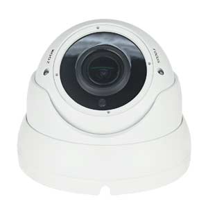 HDTCA1080MZDWv3 iSENTRY 1080P Motorised Zoom 4in1 HD-TVI / HD-CVI / AHD / CVBS Dome Camera with 30m IR Night Vision (White)