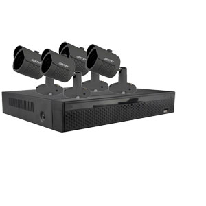 iSentry 5MP 4Ch CCTV System with 4 Bullet Cameras (Grey)