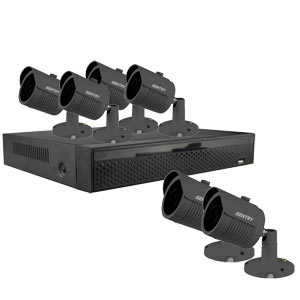 iSentry 5MP 8Ch CCTV System with 6 Bullet Cameras (grey)