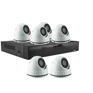 iSentry 5MP 8Ch CCTV System with 6 Mini Dome Cameras