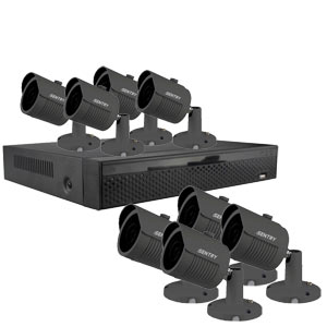 iSentry 5MP 8Ch CCTV System with 8 Bullet Cameras (Grey)