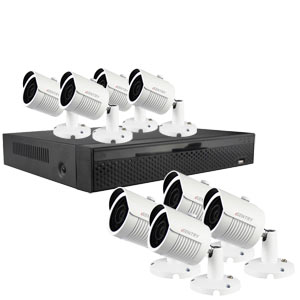 iSentry 5MP 8Ch CCTV System with 8 Bullet Cameras