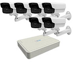 1MP HiLook by Hikvision 8Ch IP CCTV Kit with 6 PoE Bullet Cameras