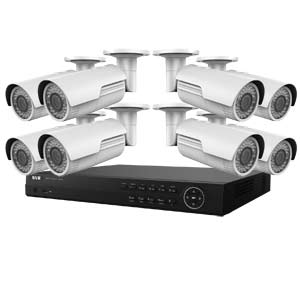**Clearance** 4MP WDR HiWatch by Hikvision 16Ch IP CCTV Kit with 8 Motorised Zoom Bullet Cameras
