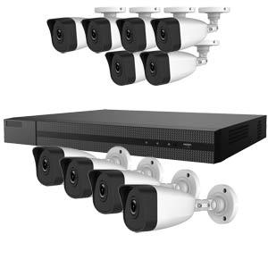 4.0MP HiWatch by Hikvision 16 Channel IP CCTV System with 10 Bullet Cameras