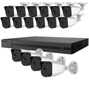 4.0MP HiWatch by Hikvision 16 Channel IP CCTV System with 16 Bullet Cameras