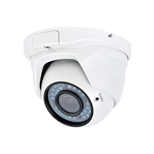 IP4MVDW iSentry 4.0 MegaPixel Manual Zoom IP Dome Camera with 30m IR Night Vision & PoE