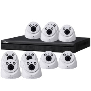 Dahua 4MP 120dB WDR 16Ch IP CCTV System with 10 Motorised Zoom Dome Cameras