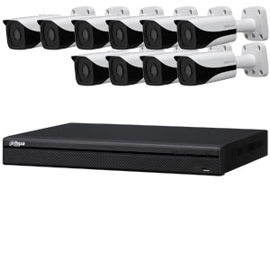 Dahua 4 MP 120dB WDR 16Ch IP CCTV System with 10 Bullet Cameras