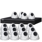 Dahua 4 MP 120dB WDR 16Ch IP CCTV System with 16 Mini Dome Cameras