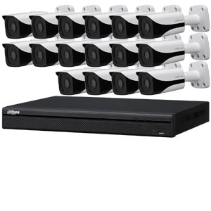 Dahua 4 MP 120dB WDR 16Ch IP CCTV System with 16 Bullet Cameras