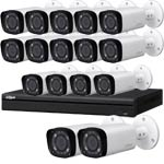 Dahua 4 MP 120dB WDR 16Ch IP CCTV System with 16 Motorised Zoom Bullet Cameras