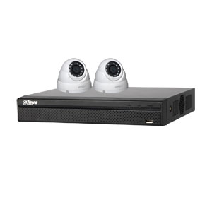 Dahua 4 MP 120dB WDR 4Ch IP CCTV System with 2 Mini Dome Cameras