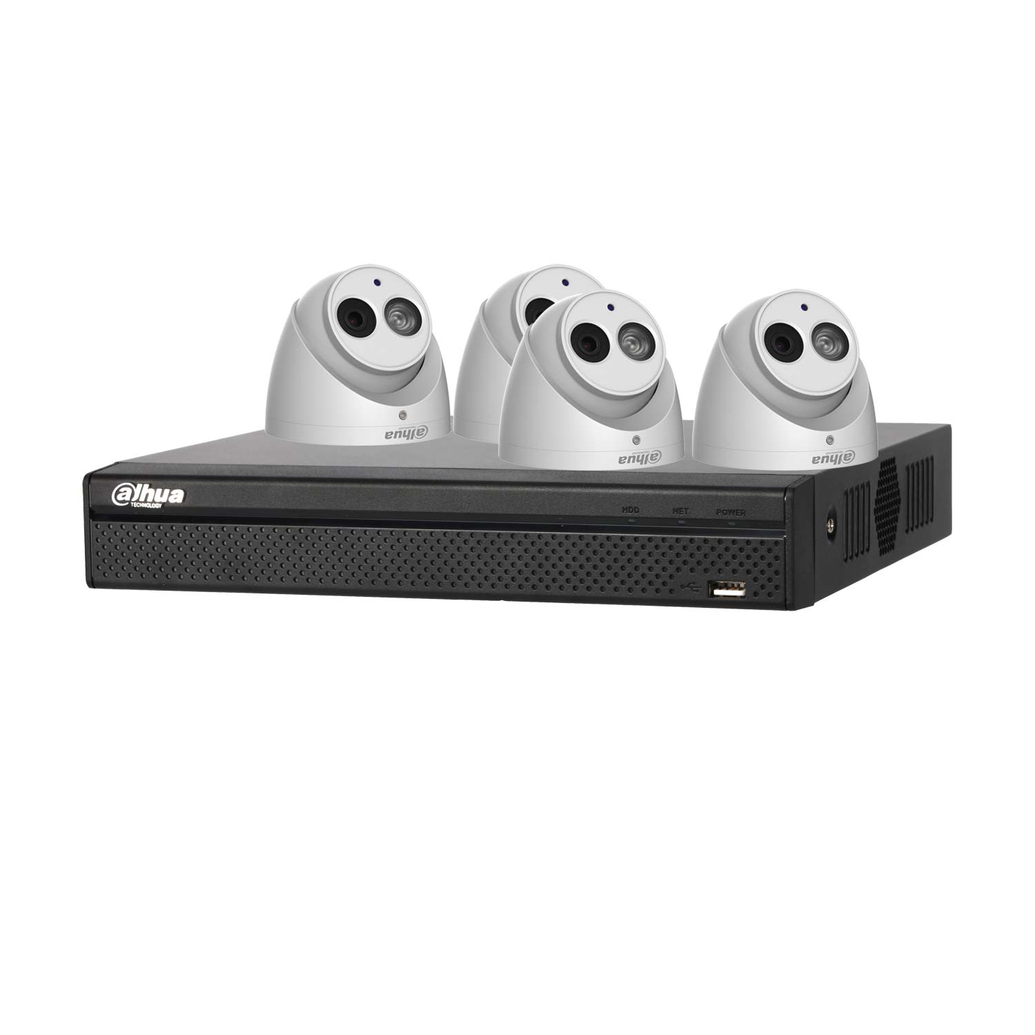 Dahua 6MP 120dB WDR 4Ch IP CCTV System with 4 Turret Cameras