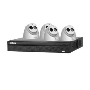 Dahua 6MP 120dB WDR 4Ch IP CCTV System with 4 Turret Cameras with Audio