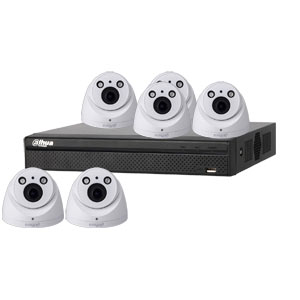 Dahua 4MP 120dB WDR 8Ch IP CCTV System with 6 Motorised Zoom Dome Cameras