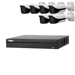 Dahua 6MP 120dB WDR 8Ch IP CCTV System with 6 Bullet Cameras