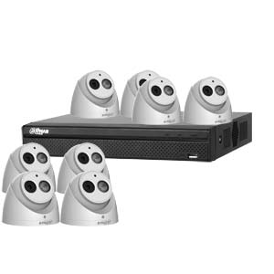 Dahua 6 MP 120dB WDR 8Ch IP CCTV System with 8 Turret Cameras with Audio