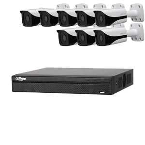 Dahua 6MP 120dB WDR 8Ch IP CCTV System with 8 Bullet Cameras