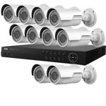 4.0MP WDR HiWatch by Hikvision 16Ch IP CCTV System with 10 Motorised Zoom Bullet Cameras