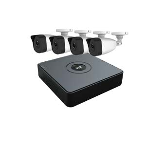 2 MegaPixel / 1080P HiWatch by Hikvision 4 Channel IP CCTV Kit with 4 Bullet Cameras