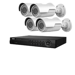4MP WDR HiWatch by Hikvision 4Ch IP CCTV Kit with 4 Motorised Zoom Bullet Cameras