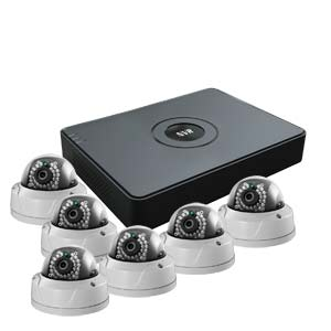 2 MegaPixel / 1080P HiWatch by Hikvision 8 Channel IP CCTV Kit with 6 IK10 Vandal Dome Cameras