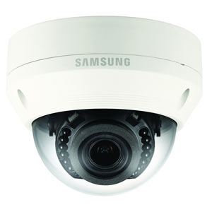 QNV-7080R Samsung WiseNetQ 4MP Motorised Zoom IK10 IP Dome Camera with 30m Night Vision and PoE