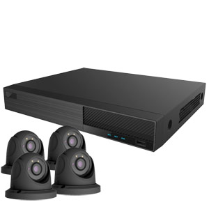 OYN-X 5MP Eyeball Dome 4 Camera IP CCTV Kit (Grey)
