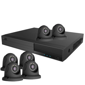 OYN-X 5MP Eyeball Dome 6 Camera IP CCTV Kit (Grey)