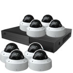OYN-X 5MP Motorised Zoom IK10 Vandal Dome 8 Camera IP CCTV Kit