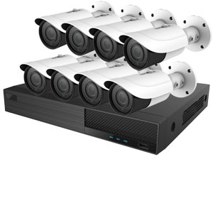 OYN-X 5MP Motorised Zoom 8 Bullet Camera IP CCTV Kit