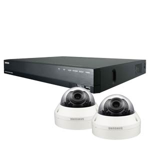 1080P Samsung 4 Channel System with 2 x 20M IR Manual Zoom Dome Cameras