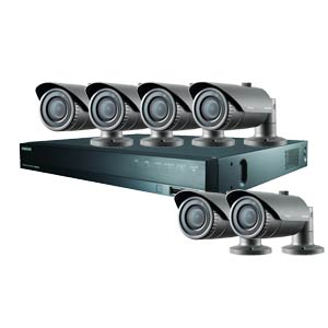 1080P Samsung 8 Channel System with 6 x 20M IR Manual Zoom Bullet Cameras
